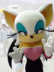 Rouge The Bat Costume Japanese Sonic Mascot ...