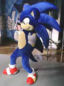 Giant spikes Sonic Adventure suit & Sonic Costume Characters or Mascots