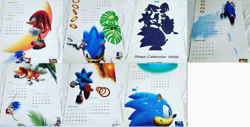 Japanese Calendar Design : Sonic the hedgehog japan home decor