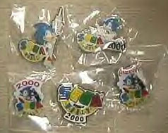 Sega World Enamel metal pins