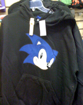 Black Hoodie with plain classic Sonic head