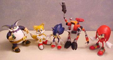 Resaurus Sonic The Hedgehog Action Figures