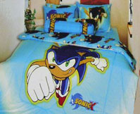 Sonic X Blue Bed Set Room Decor Photo