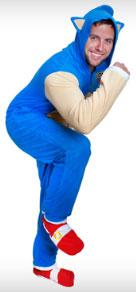 Kigurumi Style Adult Sonic Costume PJs  sc 1 st  Sonic Gear & USA Sonic the Hedgehog Sleep Wear